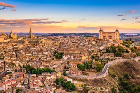 Toledo, Spain old town skyline. Stock Photo