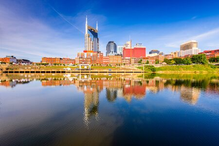 Skyline of downtown Nashville, Tennessee, USA. Stock Photo