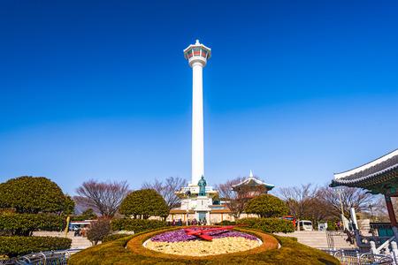 BUSAN, SOUTH KOREA - FEBRUARY 11, 2013: Busan Tower in Yongdusan park. Editorial