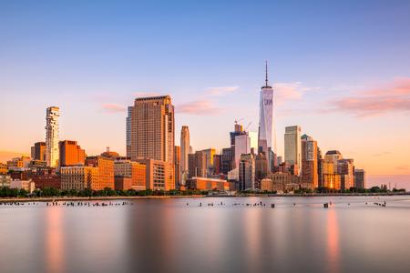 New York City Bankenviertel Stadtbild.