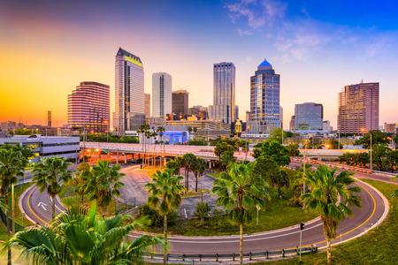 Tampa, Florida, Estados Unidos centro de la ciudad.