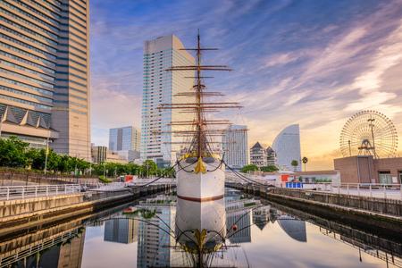 Yokohama, Japan cityscape at Minato-mirai district.