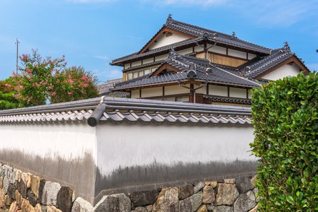 architectural exteriors: Hagi, Japan former castle town streets. Editorial