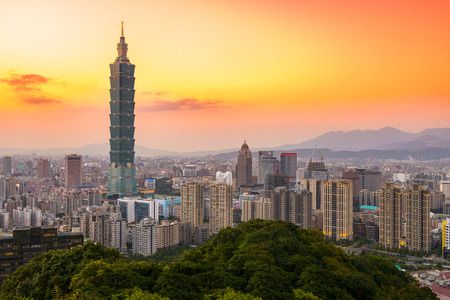 Taipei, Taiwan city skyline at twilight. Reklamní fotografie - 62645795