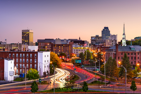 Worcester, Massachusetts, USA Skyline.