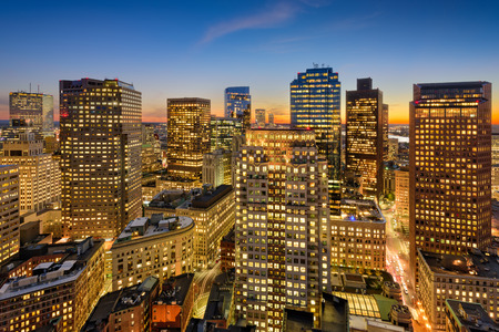 Boston, Massachusetts, USA financial district cityscape. Stock Photo