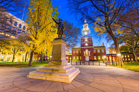Independence Hall en Filadelfia, Pensilvania, Estados Unidos. Foto de archivo
