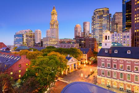 보스턴, 매사 추세 츠, 미국 시내 풍경입니다. 스톡 콘텐츠
