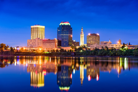 Springfield, Massachusetts, USA Skyline. Stock Photo