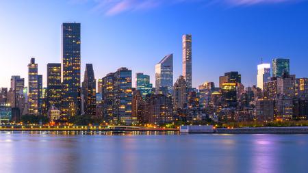 New York City skyline of Midtown Manhattan from across the Hudson River.