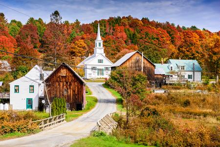 Landelijk Vermont, de VS de herfst bladeren. Stockfoto