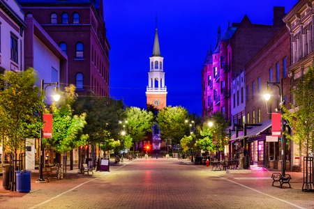 Burlington, Vermont, USA at Church Street Marketplace. Stock Photo