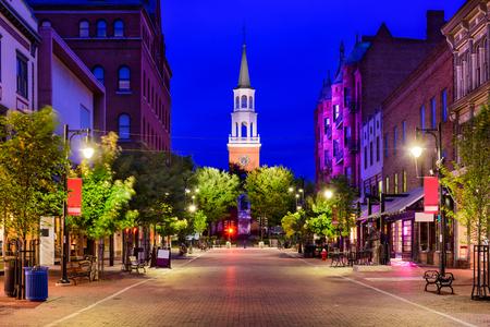 Burlington, Vermont, USA at Church Street Marketplace. Stockfoto
