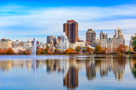 New York City at Central Park in the autumn.