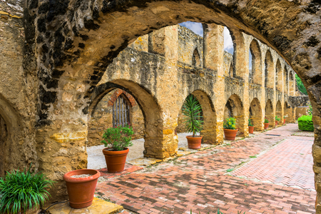 Mission San Jose in San Antonio, Texas, USA. Stock Photo