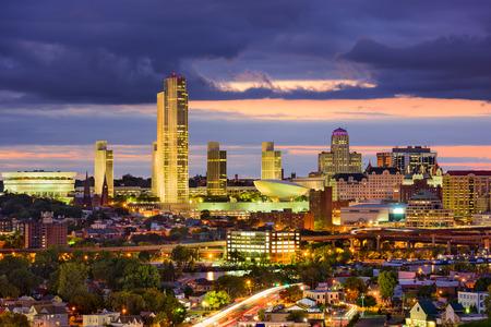 rises: Albany, New York, USA Skyline. Stock Photo
