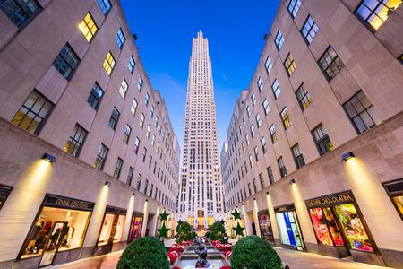 NEW YORK CITY - NOVEMBER 2, 2016: Rockefeller Center in New York. The historic landmark was completed in 1939. Editorial