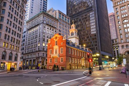 보스턴, 매사 추세 츠, 미국 올드 스테이트 하우스에서 풍경입니다.