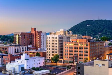 mill valley: Roanoke, Virginia, USA downtown skyline.