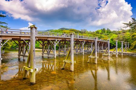 hashi: Ise, Japan at Uji Bridge of Ise Grand Shrine.