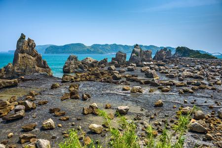 hashi: Kushimoto, Wakayama Prefecture, Japan coastline at Hashi-gui-iwa rocks.