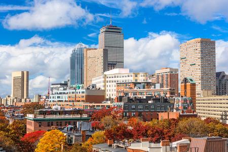 Boston, Massachusetts, USA downtown cityscape in autumn. Stock Photo