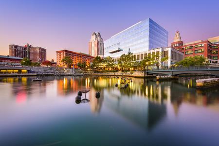 Providence, Rhode Island, USA park and skyline. Banco de Imagens