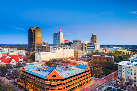 Raleigh, North Carolina, USA downtown city skyline. Stock Photo