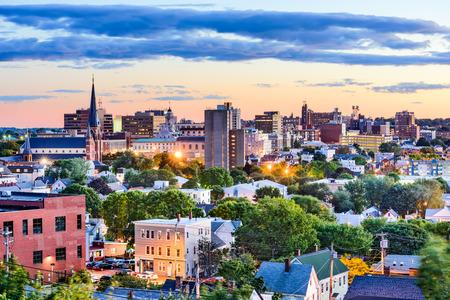 Portland, Maine, ABD şehir silüeti. Stok Fotoğraf