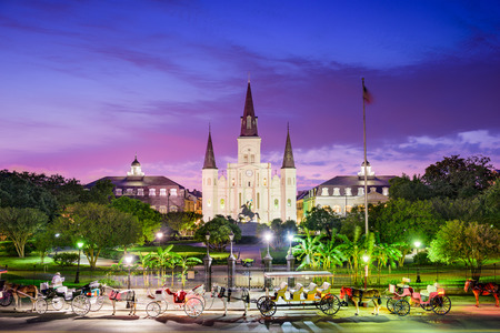 New Orleans, Louisiana op Jackson Square.