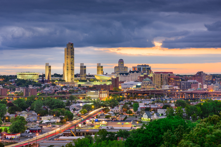 Albany, New York, USA Skyline. Stock Photo