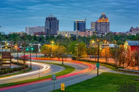 city and county building: Greensboro, North Carolina, USA downtown skyline.