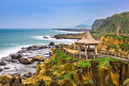 台湾、基隆和平島の海岸で 写真素材