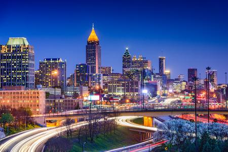 Atlanta, Georgia, USA panoramę centrum miasta. Zdjęcie Seryjne