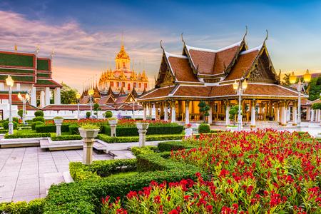 beautiful location: Wat Ratchanatdaram Temple in Bangkok, Thailand.