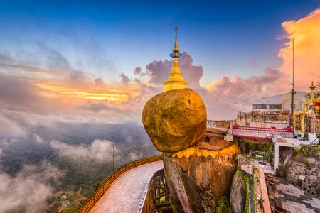 Kyaiktiyo, Golden Rock의 미얀마.