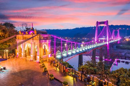 大渓台湾桃園県大渓橋。(テキスト:「大渓橋」) 写真素材