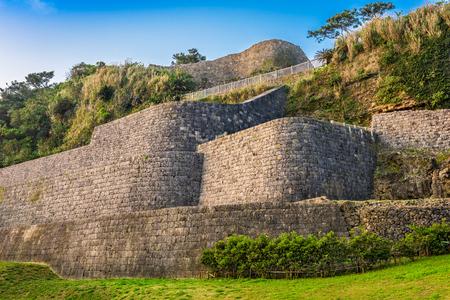 infamous: Urasoe, Okinawa, Japan at Urasoe Castle Ruins. The site is part of the infamous Hacksaw Ridge. Stock Photo