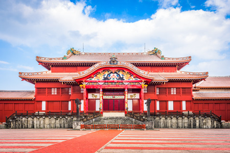 Okinawa, Japan bij Shuri Castle.