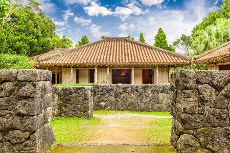 Motobu Peninsula, Okinawa, Japan at Native Okinawan Village.