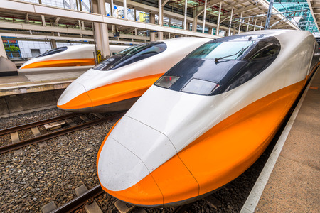 MARCH 15, 2017: KAOHSIUNG, TAIWAN: The Taiwan High Speed Rail at Zuoying Station. The line spans the west coast of Taiwan, from the capital Taipei to the southern city of Kaohsiung.