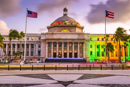 San Juan, Puerto Rico Capitol gebouw. Stockfoto