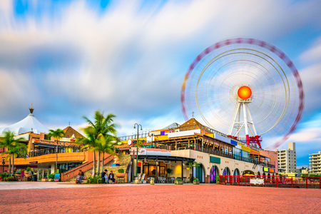 Okinawa, Japan bij American Village. Stockfoto