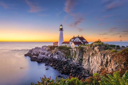 Portland, Maine, USA at Portland Head Light.