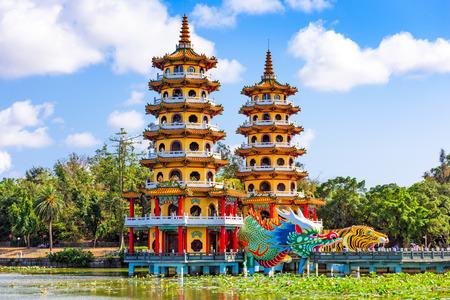 Kaohsiung, Taiwan Lotus Ponds Dragon and Tiger. Reklamní fotografie