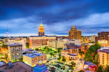 San Antonio, Texas, USA downtown city skyline.