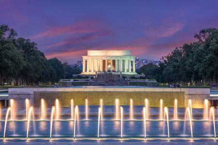 Washington DC, USA at Lincoln Memorial. Stock Photo
