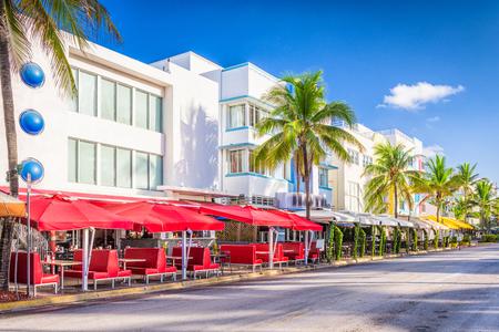 strip club: Miami Beach, Florida, USA on Ocean Drive.