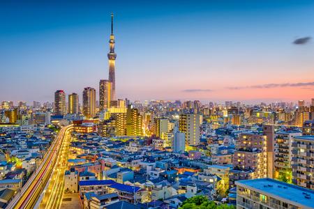 Tokyo, Japan Sumida skyline.
