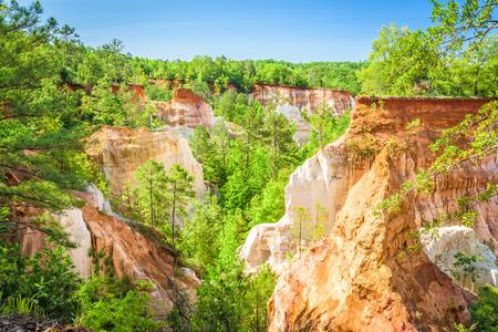 Providence Canyon in  Lumpkin, Georgia, USA. Stock Photo